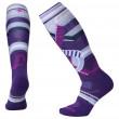 Șosete 3/4 femei Smartwool Phd Ski Medium Pattern Women`s violet mountain purple