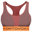 Sutien sportiv Ortovox 185 Rock'n'Wool Sport Top roșu