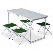 Set Pinguin Furniture (Masă + 4 scaune) verde