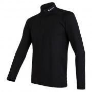 Tricou funcțional bărbați Sensor Thermo zip fermoar negru