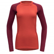 Tricou Devold Duo active woman shirt roșu