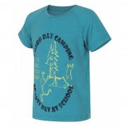 Dětské cool dry triko Husky Zingl K tyrkysová