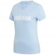 Tricou femei Adidas Essentials Linear Slim albastru deschis