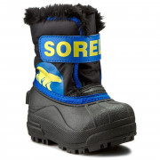 Încălțăminte de iarnă copii Sorel Snow Commander albastru/galben