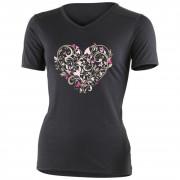 Dámské triko Lasting Elba negru/roz