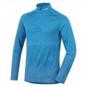 Tricou bărbați funcțional Husky Merino (cu fermoar și mânecă lungă) albastru
