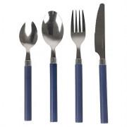 Tacâmuri Bo-Camp Cutlery Set 4 buc. pentru persoană albastru