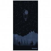 Prosop cu uscare rapidă Towee Backpacker 80x160 cm negru/albastru