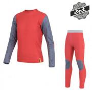 Set copii Sensor Flow Set tricou + indispensabili roșu červená/sobi