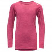 Tricou copii Devold Breeze Junior Shirt roz