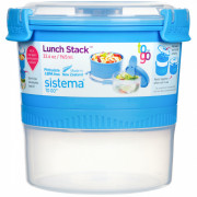 Box na potraviny Sistema Round Lunch Stack TO GO 965ml albastru