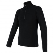 Tricou funcțional bărbați Sensor Merino Extreme fermoar negru