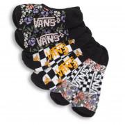 Șosete femei Vans Wm Garden Variety Canoodles 6.5-10 3Pk negru/alb