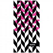 Prosop cu uscare rapidă Towee Dynamica 50x100 cm roz/negru