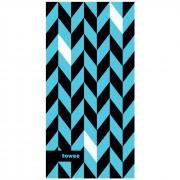 Prosop cu uscare rapidă Towee Dynamic 50x100 cm albastru/negru