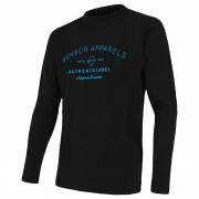 Tricou funcțional bărbați Sensor Merino Active PT Label negru