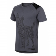 Tricou funcțional bărbați Husky Merino 100 Dog (mânecă scurtă) gri