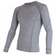 Tricou funcțional bărbați Sensor Merino Wool Active mânecă lungă gri šedá