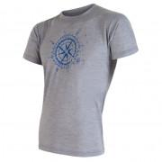 Tricou pentru bărbați Sensor Merino Wool Active PT Kompas gri šedá