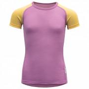 Dětské triko Devold Breeze Kid T-Shirt violet