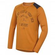 Tricou funcțional bărbați Husky Merino 100 Wolf (mânecă lungă) maro