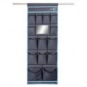 Organizér Bo-Camp Tent organizer 14 pockets Mirror 48x123cm negru