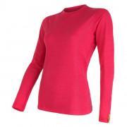 Tricou femei Sensor Merino Wool Active mânecă lungă roz magenta