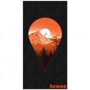Prosop cu uscare rapidă Towee Next Destination 80x160 cm negru/portocaliu