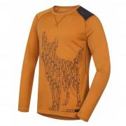 Tricou funcțional bărbați Husky Merino 100 Dog (mânecă lungă) maro