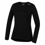 Tricou dame funcțional Husky Merino (mânecă lungă negru) negru černá