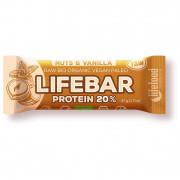 Baton Lifefood Organic Lifebar Protein Vanilla Nuts RAW 47 g