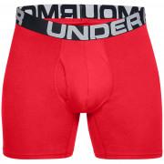 Boxeri pentru bărbați Under Armour Charged Cotton 6in 3 Pack roșu