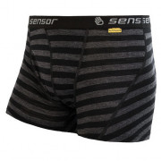 Tricou funcțional bărbați Sensor Merino Active negru/gri