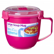 Hrnek Sistema Microwave Large Soup Mug Color roz