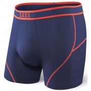 Boxeri Saxx Kinetic Boxer Midnight blue/Orange albastru midnight blue/orange