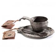 Sed cadou Kupilka Kuksa 210 ml + farfurie + linguriță negru