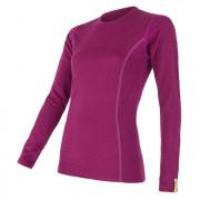 Tricou femei Sensor Merino Wool Active mânecă lungă lila lilla