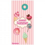Prosop cu uscare rapidă Towee Sweet Summer 80x160 cm roz