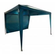 Cort de petreceri Zulu Shelter M + un perete lateral GRATIS Albastru/alb