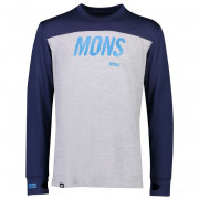 Tricou funcțional bărbați Mons Royal Yotei Tech LS gri/albastru
