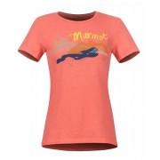 Tricou femei Marmot Wm's Esterel Tee SS roșu