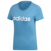 Tricou femei Adidas Essentials Linear albastru