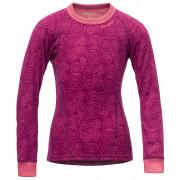 Tricou funcțional copii Devold Active Kid Shirt roz