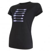 Tricou femei Sensor  Merino Wool  PT Săgeată m.s. negru černá