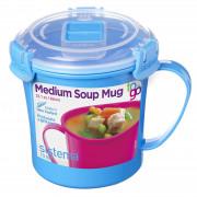 Cană Sistema Microwave Medium Soup Mug albastru