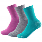�osete copii Devold Daily Medium Kid Sock 3pk roz