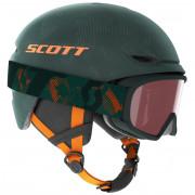Lyžařský set Scott Combo Helmet Keeper 2 + Witty Junior verde închis