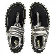 Sandale pentru femei Gumbies Slingback gri/alb/negru