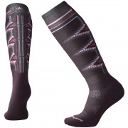 Șosete 3/4 femei Smartwool Phd Ski Light Pattern Women`s violet bordeaux