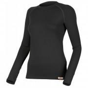 Tricou funcțional femei Lasting Lena mânecă lungă  negru
